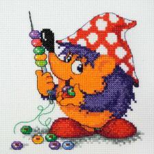Машенька | Радужные бусины (по рисунку Л.Бартенева). Размер - 15 х 15 см