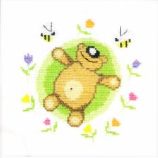 Машенька | Миша и пчёлы (по рисунку О.Куреевой). Размер - 15 х 15 см