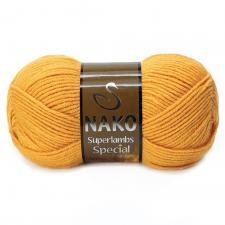 NAKO Superlambs Special (49% шерсть,51% премиум акрил),100 г/200 м,цв.1380 горчичный