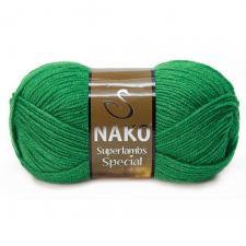 NAKO Superlambs Special (49% шерсть,51% премиум акрил),100 г/200 м,цв.3584 зелёный