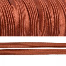 Кант атласный шир.11мм цв.(F285) 073 красно-коричневый