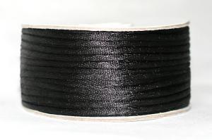 Шнур атласный круглый 2-3мм цв. чёрный
