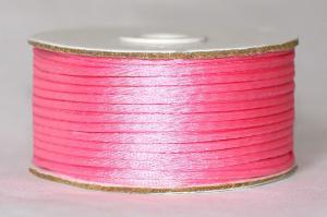 Шнур атласный круглый 2-3мм цв. 3077 ярко-розовый