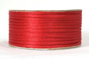 Шнур атласный круглый 2-3мм цв. 3095 красный