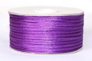 Шнур атласный круглый 2-3мм цв. 3118 фиолетовый