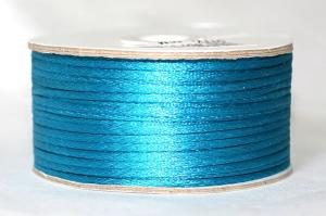 Шнур атласный круглый 2-3мм цв. 3155 бирюзовый