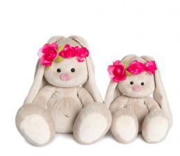 Зайка Ми в повязке с цветами, мягкая игрушка BudiBasa