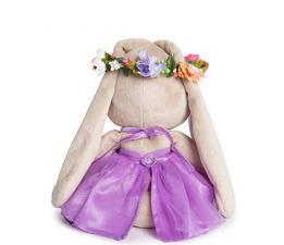 Зайка Ми в веночке и фиолетовом платье, мягкая игрушка BudiBasa,размер 18 см