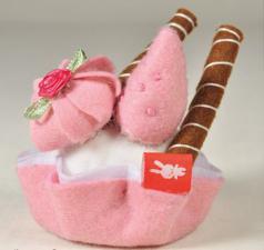 Зайка Ми с пирожным, мягкая игрушка BudiBasa