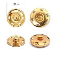 Кнопка пришивная металлическая TBY-BJ059 18,5 мм цв.золото