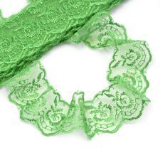 Кружево капроновое,45 мм,цвет зелёный (019)