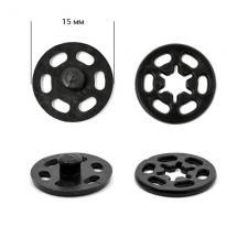 Кнопка пришивная пластиковая TBY-PSB 15 мм цв.чёрный