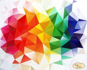 Тэла Артис | Весёлая геометрия. Размер - 30 х 24 см