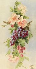 Тэла Артис | Букет с виноградом. Размер - 24 х 45 см