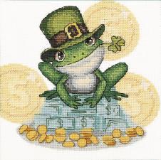 Набор для вышивания крестом Crystal Art Денежная жаба. Размер - 14 х 14 см.