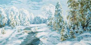 Чаривна Мить | Зимний иней. Размер - 53 х 26 см