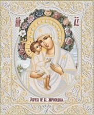 Жировицкая икона Божией Матери (серебро). Размер - 26 х 32 см