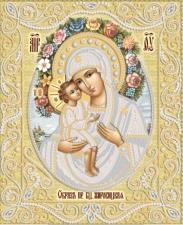 Жировицкая икона Божией Матери (золото). Размер - 26 х 32 см