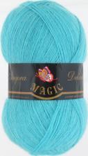 Пряжа Magic Angora delicate (15% мохер,10% шерсть,75% акрил,100гр/500м),1113 светлая голубая бирюза