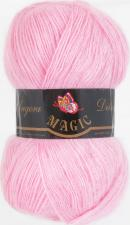 Пряжа Magic Angora delicate (15% мохер,10% шерсть,75% акрил,100гр/500м),1123 светло-розовый