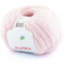 Пряжа Rozetti Alaska (44% акрил, 26% полиамид, 15% альпака, 15% суперстирка шерсть мериноса,50г/225м),231-06 нежно-розовый