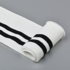 Подвяз трикотажный арт.TBY.73003 цв.белый с чёрными полосами, 6х80см