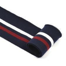 Подвяз трикотажный арт.TBY.73008 цв.т.синий с белой и бордовой полосами, 6х80см