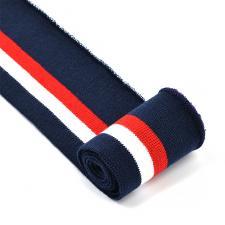 Подвяз трикотажный арт.TBY.73050 цв.т.синий с красной и белой полосами, 6х80см