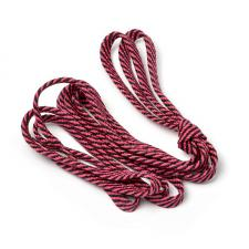 Шнурки плоские 9 мм 7с859 длина 100 см, компл.2шт, цв. чёрный с ярко-малиновым