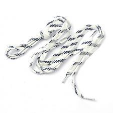 Шнурки плоские 9 мм 7с859 длина 100 см, компл.2шт, цв. белый с тёмно-синим
