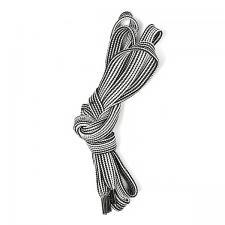 Шнурки плоские 10мм турецкое плетение дл.100см цв. черно-белый полоски
