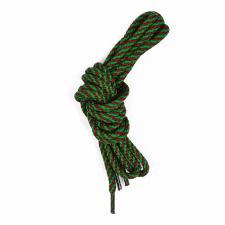 Шнурки круглые 5мм с наполнителем дл.100см цв. зелёно-бордовый винт