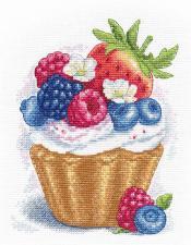 Овен | Ягодный десерт. Размер - 16 х 20 см