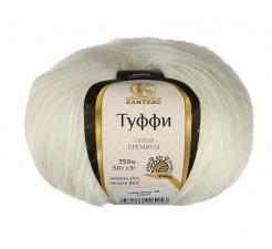 Камтекс | Пряжа Туффи (14% нейлон,86% нитрон, 50 г/350 м),205 белый