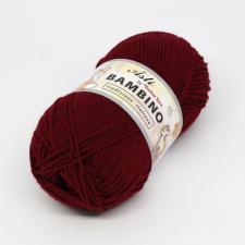 Троицкая пряжа | BAMBINO (100% акрил супер софт) 100г/250м цв.0025 вишня