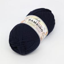 Троицкая пряжа | BAMBINO (100% акрил супер софт) 100г/250м цв.0107 тёмно-синий