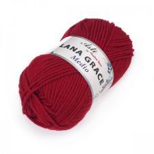 Троицкая пряжа | LANA GRACE MEDIO (25% мериносовая шерсть 75% акрил супер софт) 100г/170м цв.0042 красный