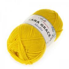 Троицкая пряжа | LANA GRACE MEDIO (25% мериносовая шерсть 75% акрил супер софт) 100г/170м цв.0123 холодный жёлтый