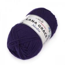 Троицкая пряжа | LANA GRACE MEDIO (25% мериносовая шерсть 75% акрил супер софт) 100г/170м цв.0266 фиолетовый