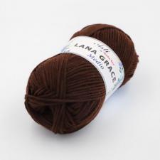 Троицкая пряжа | LANA GRACE MEDIO (25% мериносовая шерсть 75% акрил супер софт) 100г/170м цв.0412 шоколад