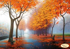 Тэла Артис | Осенняя аллея. Размер - 34 х 24 см