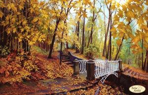 Тэла Артис | Мост в осень. Размер - 37 х 24 см