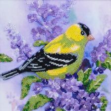 Тэла Артис | Птичка на веточке сирени. Размер - 19 х 19 см