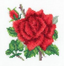"""Набор для вышивания Кларт """"Красная роза"""". Размер - 12,5 х 12,5 см"""