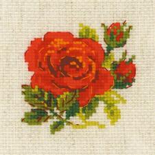 Риолис | Розочка. Размер - 13 х 13 см