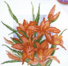 Марья Искусница | Лилии. Размер - 25 х 25 см