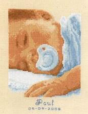 Vervaco | Сладко спящий малыш. Размер - 16 х 19 см