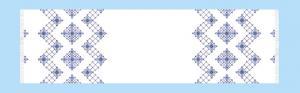 Чаривна мить | Дорожка со вставками канвы 0,32 х 0,90 м,белый
