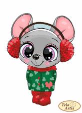 Тэла Артис | Мышка-малышка. Размер - 7 х 9 см