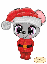 Тэла Артис | Мышонок Санта. Размер - 8 х 9 см